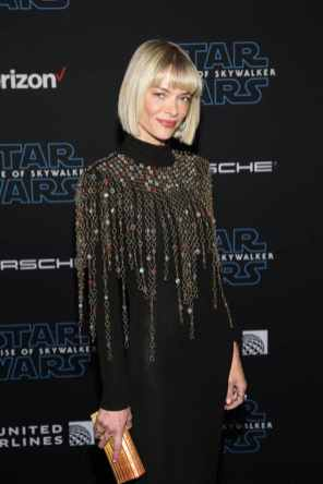 "HOLLYWOOD, CALIFORNIA - DECEMBER 16: Jaime King arrives for the World Premiere of ""Star Wars: The Rise of Skywalker"", the highly anticipated conclusion of the Skywalker saga on December 16, 2019 in Hollywood, California. (Photo by Jesse Grant/Getty Images for Disney)"