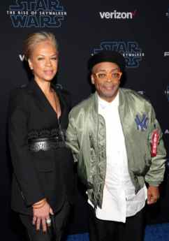"HOLLYWOOD, CALIFORNIA - DECEMBER 16: (L-R) Tonya Lewis Lee and Spike Lee arrive for the World Premiere of ""Star Wars: The Rise of Skywalker"", the highly anticipated conclusion of the Skywalker saga on December 16, 2019 in Hollywood, California. (Photo by Jesse Grant/Getty Images for Disney)"
