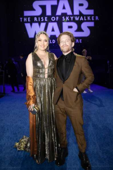 Clare Grant and Seth Green arrive for the World Premiere of Star Wars: The Rise of Skywalker, the highly anticipated conclusion of the Skywalker saga, in Hollywood, CA, on December 16, 2019..(photo: Alex J. Berliner/ABImages)