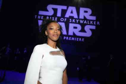Naomi Ackie arrives for the World Premiere of Star Wars: The Rise of Skywalker, the highly anticipated conclusion of the Skywalker saga, in Hollywood, CA, on December 16, 2019..(photo: Alex J. Berliner/ABImages)