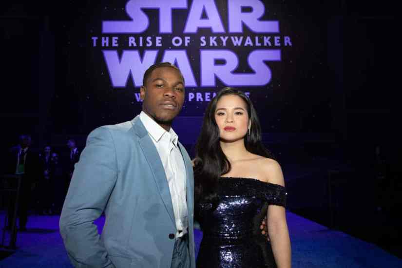 John Boyega and Kelly Marie Tran arrive for the World Premiere of Star Wars: The Rise of Skywalker, the highly anticipated conclusion of the Skywalker saga, in Hollywood, CA, on December 16, 2019..(photo: Alex J. Berliner/ABImages)