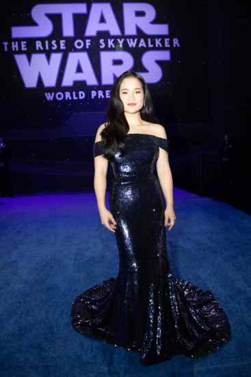 Kelly Marie Tran arrives for the World Premiere of Star Wars: The Rise of Skywalker, the highly anticipated conclusion of the Skywalker saga, in Hollywood, CA, on December 16, 2019..(photo: Alex J. Berliner/ABImages)