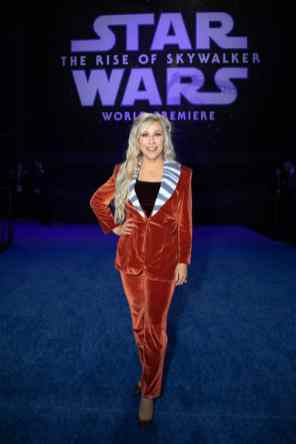 Ashley Eckstein arrives for the World Premiere of Star Wars: The Rise of Skywalker, the highly anticipated conclusion of the Skywalker saga, in Hollywood, CA, on December 16, 2019..(photo: Alex J. Berliner/ABImages)