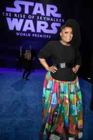 Yvette Nicole Brown arrives for the World Premiere of Star Wars: The Rise of Skywalker, the highly anticipated conclusion of the Skywalker saga, in Hollywood, CA, on December 16, 2019..(photo: Alex J. Berliner/ABImages)