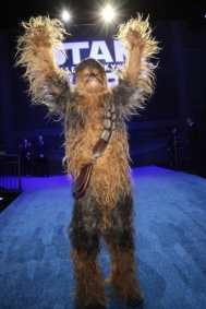 Chewbacca arrives for the World Premiere of Star Wars: The Rise of Skywalker, the highly anticipated conclusion of the Skywalker saga, in Hollywood, CA, on December 16, 2019. (photo: Alex J. Berliner/ABImages)
