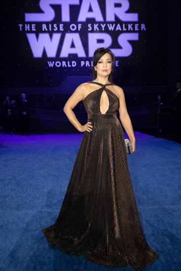 Ming-Na Wen arrives for the World Premiere of Star Wars: The Rise of Skywalker, the highly anticipated conclusion of the Skywalker saga, in Hollywood, CA, on December 16, 2019..(photo: Alex J. Berliner/ABImages)