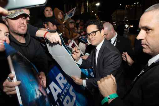 J.J. Abrams signs autographs at the World Premiere of Star Wars: The Rise of Skywalker, the highly anticipated conclusion of the Skywalker saga, in Hollywood, CA, on December 16, 2019..(photo: Alex J. Berliner/ABImages)