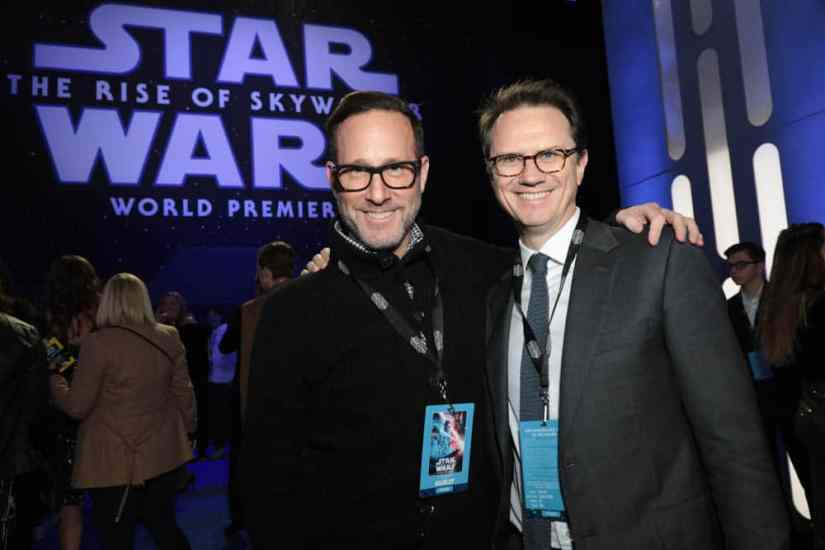 Richard Weitz and Peter Rice arrive for the World Premiere of Star Wars: The Rise of Skywalker, the highly anticipated conclusion of the Skywalker saga, in Hollywood, CA, on December 16, 2019. (photo: Alex J. Berliner/ABImages)
