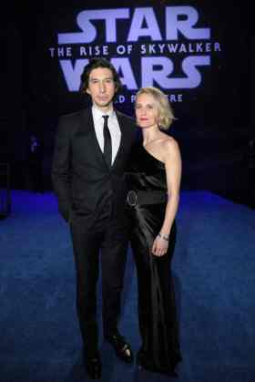 Adam Driver and Joanne Tucker arrive for the World Premiere of Star Wars: The Rise of Skywalker, the highly anticipated conclusion of the Skywalker saga, in Hollywood, CA, on December 16, 2019. (photo: Alex J. Berliner/ABImages)