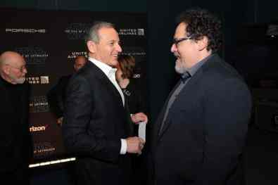 Bob Iger and Jon Favreau arrive for the World Premiere of Star Wars: The Rise of Skywalker, the highly anticipated conclusion of the Skywalker saga, in Hollywood, CA, on December 16, 2019. (photo: Alex J. Berliner/ABImages)