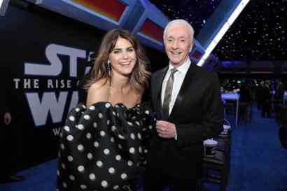 Keri Russell and Anthony Daniels attend the World Premiere of Star Wars: The Rise of Skywalker, the highly anticipated conclusion of the Skywalker saga after party, in Hollywood, CA, on December 16, 2019. (photo: Alex J. Berliner/ABImages)