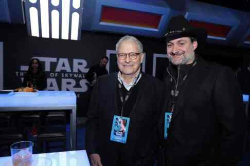 Lawrence Kasdan and Dave Filoni attend the World Premiere of Star Wars: The Rise of Skywalker, the highly anticipated conclusion of the Skywalker saga after party, in Hollywood, CA, on December 16, 2019. (photo: Alex J. Berliner/ABImages)