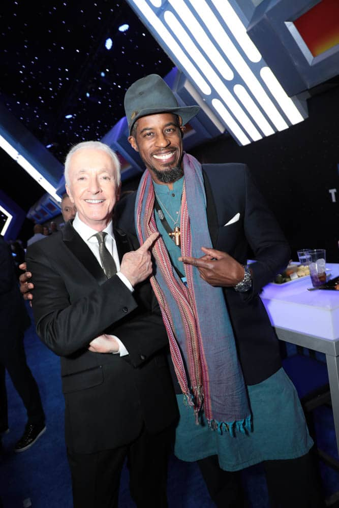 Anthony Daniels and Ahmed Best attend the World Premiere of Star Wars: The Rise of Skywalker, the highly anticipated conclusion of the Skywalker saga after party, in Hollywood, CA, on December 16, 2019. (photo: Alex J. Berliner/ABImages)