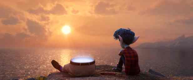 """FATHER & SON -- In Disney and Pixar's """"Onward,"""" 16-year-old Ian (voice of Tom Holland) yearns for the father he lost back before he was born. When a magical gift allows Ian and his brother Barley to conjure their dad—or half him, anyway—Ian's dreams of getting the fatherly advice he's always sought just might come true. Directed by Dan Scanlon and produced by Kori Rae, """"Onward"""" opens in U.S. theaters on March 6, 2020. © 2019 Disney/Pixar. All Rights Reserved."""
