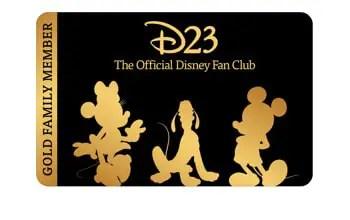 D23 Gold Family Membership Card