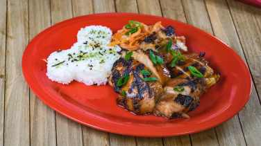 This Korean barbecue glaze chicken dish can be found at Disney California Adventure Park as Disneyland Resort celebrates the Year of the Mouse this Lunar New Year, Jan. 17 through Feb. 9, 2020. During the 24 days of this multicultural celebration, guests will enjoy exciting live entertainment and musical performances, plus inspired food and beverage items across festival marketplaces. (David/Nguyen Disneyland Resort)