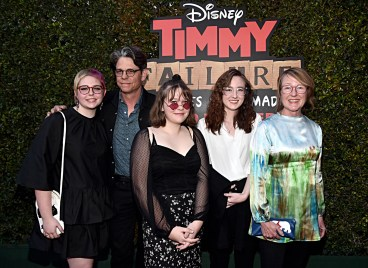 """HOLLYWOOD, CALIFORNIA - JANUARY 30: Costume designer Kari Perkins (R) and guests attend the premiere of Disney's """"Timmy Failure: Mistakes Were Made"""" at Hollywood's El Capitan Theater on January 30, 2020. """"Timmy Failure: Mistakes Were Made"""" premieres on February 7, 2020, streaming only on Disney+. (Photo by Alberto E. Rodriguez/Getty Images for Disney)"""
