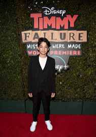 """HOLLYWOOD, CALIFORNIA - JANUARY 30: Santiago Veizaga attends the premiere of Disney's """"Timmy Failure: Mistakes Were Made"""" at Hollywood's El Capitan Theater on January 30, 2020. """"Timmy Failure: Mistakes Were Made"""" premieres on February 7, 2020, streaming only on Disney+. (Photo by Alberto E. Rodriguez/Getty Images for Disney)"""