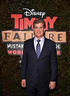 """HOLLYWOOD, CALIFORNIA - JANUARY 30: Producer Jim Whitaker attends the premiere of Disney's """"Timmy Failure: Mistakes Were Made"""" at Hollywood's El Capitan Theater on January 30, 2020. """"Timmy Failure: Mistakes Were Made"""" premieres on February 7, 2020, streaming only on Disney+. (Photo by Alberto E. Rodriguez/Getty Images for Disney)"""
