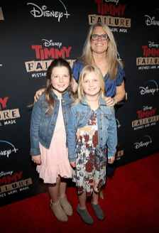 """HOLLYWOOD, CALIFORNIA - JANUARY 30: Kate Churchill (R) and guests attend the premiere of Disney's """"Timmy Failure: Mistakes Were Made"""" at Hollywood's El Capitan Theater on January 30, 2020. """"Timmy Failure: Mistakes Were Made"""" premieres on February 7, 2020, streaming only on Disney+. (Photo by Jesse Grant/Getty Images for Disney)"""