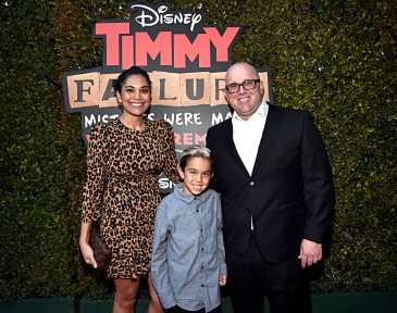 """HOLLYWOOD, CALIFORNIA - JANUARY 30: Visual effects producer Brian Shows (R) and guests attend the premiere of Disney's """"Timmy Failure: Mistakes Were Made"""" at Hollywood's El Capitan Theater on January 30, 2020. """"Timmy Failure: Mistakes Were Made"""" premieres on February 7, 2020, streaming only on Disney+. (Photo by Alberto E. Rodriguez/Getty Images for Disney)"""