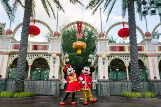 Disneyland Resort in California welcomes a year of good fortune with Lunar New Year celebrations at Disney California Adventure from Jan. 17 – Feb. 9, 2020. Disney Parks teamed up with award-winning couture fashion designer Guo Pei, facilitated by the Asian Couture Federation, to create new Lunar New Year-inspired outfits for Mickey Mouse and Minnie Mouse. (Disneyland Resort)
