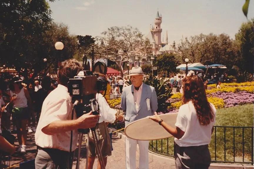 John Hench at Disneyland in 1990! - Photo: Doug Marsh