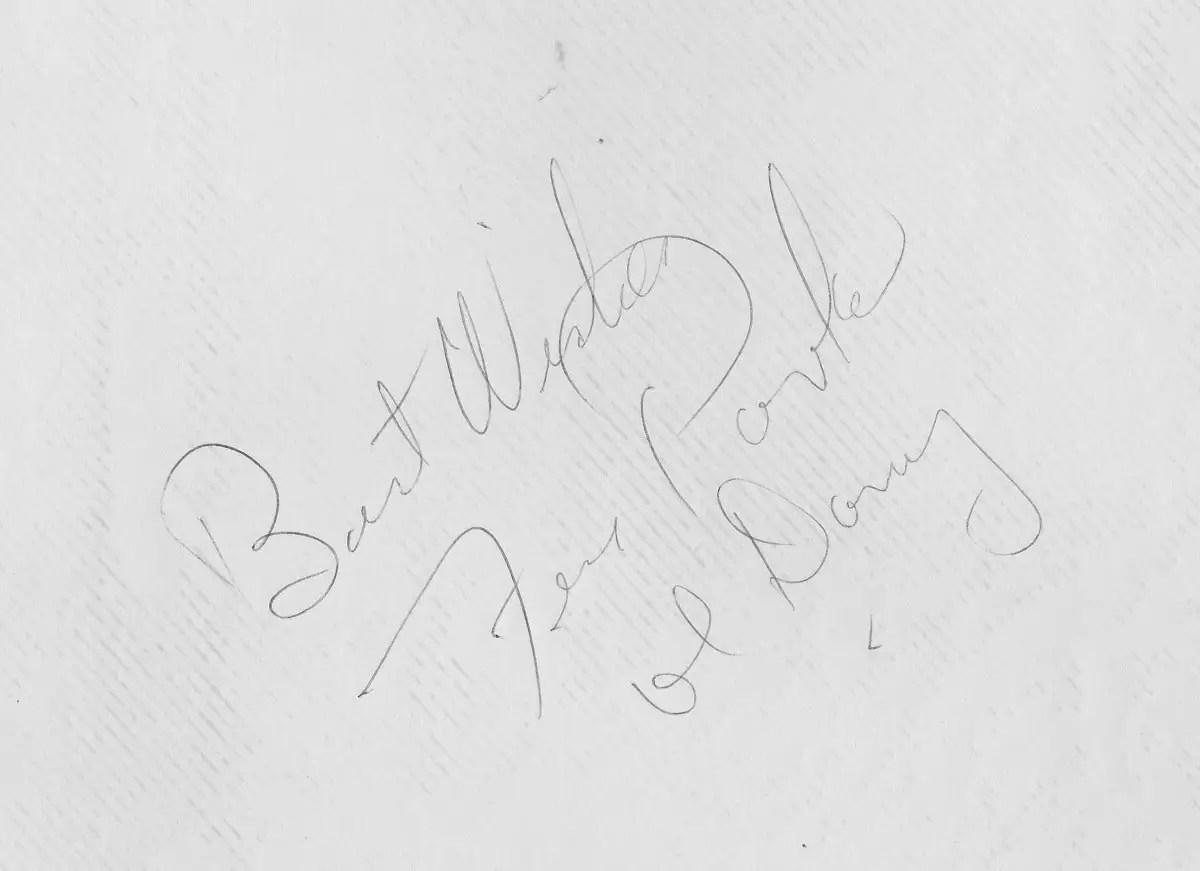 Fess Parker's autograph