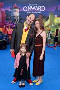 HOLLYWOOD, CALIFORNIA - FEBRUARY 18: (L-R) Mel Rodriguez, Stella Rodriguez, and Desiree Dundr Rodriguez attend the world premiere of Disney and Pixar's ONWARD at the El Capitan Theatre on February 18, 2020 in Hollywood, California. (Photo by Alberto E. Rodriguez/Getty Images for Disney)
