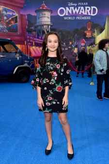 HOLLYWOOD, CALIFORNIA - FEBRUARY 18: Kaylin Hayman attends the world premiere of Disney and Pixar's ONWARD at the El Capitan Theatre on February 18, 2020 in Hollywood, California. (Photo by Alberto E. Rodriguez/Getty Images for Disney)
