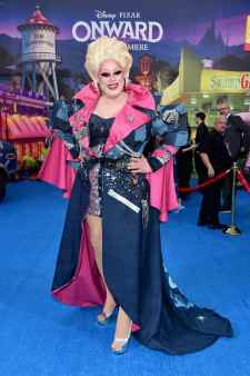 HOLLYWOOD, CALIFORNIA - FEBRUARY 18: Nina West attends the world premiere of Disney and Pixar's ONWARD at the El Capitan Theatre on February 18, 2020 in Hollywood, California. (Photo by Alberto E. Rodriguez/Getty Images for Disney)