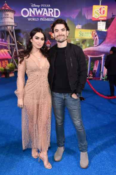 HOLLYWOOD, CALIFORNIA - FEBRUARY 18: (L-R) Ashley Iaconetti and Jared Haibon attend the world premiere of Disney and Pixar's ONWARD at the El Capitan Theatre on February 18, 2020 in Hollywood, California. (Photo by Alberto E. Rodriguez/Getty Images for Disney)