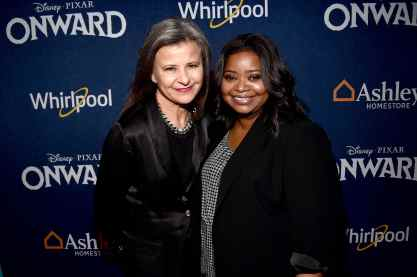HOLLYWOOD, CALIFORNIA - FEBRUARY 18: (L-R) Tracey Ullman and Octavia Spencer attend the world premiere of Disney and Pixar's ONWARD at the El Capitan Theatre on February 18, 2020 in Hollywood, California. (Photo by Alberto E. Rodriguez/Getty Images for Disney)