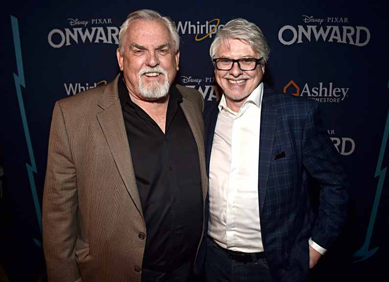 HOLLYWOOD, CALIFORNIA - FEBRUARY 18: (L-R) John Ratzenberger and Dave Foley attend the world premiere of Disney and Pixar's ONWARD at the El Capitan Theatre on February 18, 2020 in Hollywood, California. (Photo by Alberto E. Rodriguez/Getty Images for Disney)