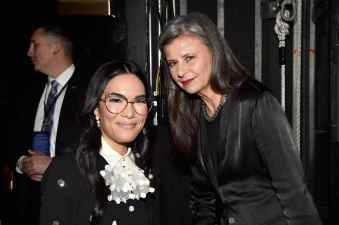 HOLLYWOOD, CALIFORNIA - FEBRUARY 18: (L-R) Ali Wong and Tracey Ullman attend the world premiere of Disney and Pixar's ONWARD at the El Capitan Theatre on February 18, 2020 in Hollywood, California. (Photo by Alberto E. Rodriguez/Getty Images for Disney)
