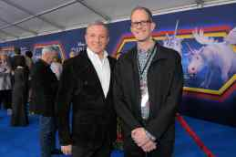 HOLLYWOOD, CALIFORNIA - FEBRUARY 18: (L-R) The Walt Disney Company Chairman and CEO Bob Iger and Executive producer Pete Docter attend the world premiere of Disney and Pixar's ONWARD at the El Capitan Theatre on February 18, 2020 in Hollywood, California. (Photo by Charley Gallay/Getty Images for Disney)
