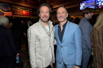 HOLLYWOOD, CALIFORNIA - FEBRUARY 18: (L-R) Composer Jeff Danna and Mychael Danna attend the world premiere of Disney and Pixar's ONWARD at the El Capitan Theatre on February 18, 2020 in Hollywood, California. (Photo by Charley Gallay/Getty Images for Disney)