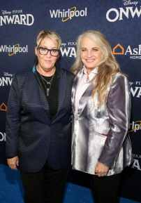 HOLLYWOOD, CALIFORNIA - FEBRUARY 18: (L-R) Producer Kori Rae and Darla K. Anderson attend the world premiere of Disney and Pixar's ONWARD at the El Capitan Theatre on February 18, 2020 in Hollywood, California. (Photo by Jesse Grant/Getty Images for Disney)
