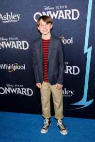 HOLLYWOOD, CALIFORNIA - FEBRUARY 18: Brady Jenness attends the world premiere of Disney and Pixar's ONWARD at the El Capitan Theatre on February 18, 2020 in Hollywood, California. (Photo by Jesse Grant/Getty Images for Disney)