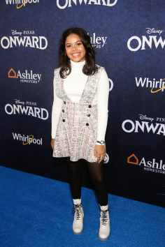 HOLLYWOOD, CALIFORNIA - FEBRUARY 18: Alison Fernandez attends the world premiere of Disney and Pixar's ONWARD at the El Capitan Theatre on February 18, 2020 in Hollywood, California. (Photo by Jesse Grant/Getty Images for Disney)