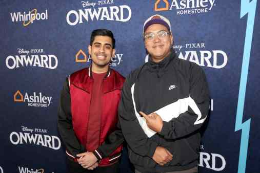 HOLLYWOOD, CALIFORNIA - FEBRUARY 18: (L-R) Omar Raja and C.J. Toledano attends the world premiere of Disney and Pixar's ONWARD at the El Capitan Theatre on February 18, 2020 in Hollywood, California. (Photo by Jesse Grant/Getty Images for Disney)