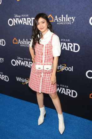 HOLLYWOOD, CALIFORNIA - FEBRUARY 18: Febby Rastanty attends the world premiere of Disney and Pixar's ONWARD at the El Capitan Theatre on February 18, 2020 in Hollywood, California. (Photo by Jesse Grant/Getty Images for Disney)