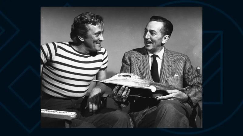 Kirk Douglas and Walt Disney