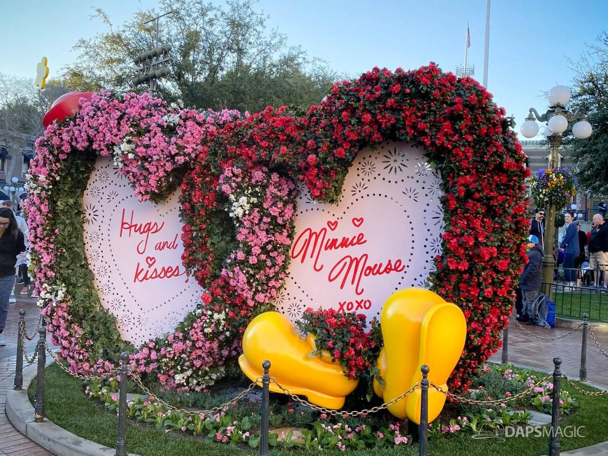 Valentine's Day Decorations at Disneyland 2020