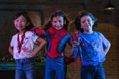 Young recruits who are looking to gear up for Super Hero training will find a variety of apparel items featuring the friendly neighborhood Spider-Man at WEB Suppliers inside Avengers Campus at Disney California Adventure Park in Anaheim, California. The kid's Spider-Man costume (center) is exclusive to Avengers Campus. Avengers Campus opens July 18, 2020. (David Roark/Disneyland Resort)
