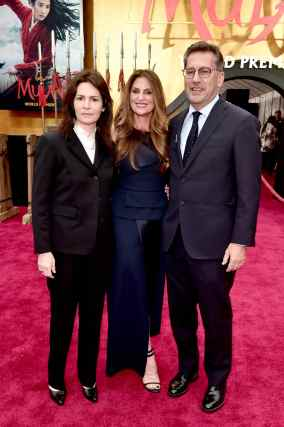 HOLLYWOOD, CALIFORNIA - MARCH 09: (L-R) Screenwriter Amanda Silver, director Niki Caro, and screenwriter Rick Jaffa attend the World Premiere of Disney's 'MULAN' at the Dolby Theatre on March 09, 2020 in Hollywood, California. (Photo by Alberto E. Rodriguez/Getty Images for Disney)
