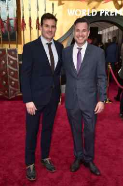 HOLLYWOOD, CALIFORNIA - MARCH 09: Chris Bender and Jake Weiner attend the World Premiere of Disney's 'MULAN' at the Dolby Theatre on March 09, 2020 in Hollywood, California. (Photo by Alberto E. Rodriguez/Getty Images for Disney)