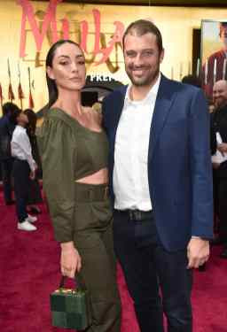 HOLLYWOOD, CALIFORNIA - MARCH 09: (L-R) Carolina Guerra and David Reuben Jr attend the World Premiere of Disney's 'MULAN' at the Dolby Theatre on March 09, 2020 in Hollywood, California. (Photo by Alberto E. Rodriguez/Getty Images for Disney)