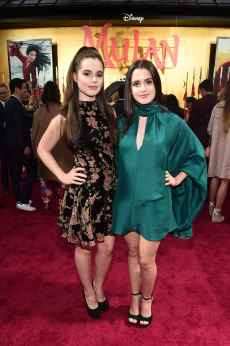 HOLLYWOOD, CALIFORNIA - MARCH 09: (L-R) Vanessa Marano and Laura Marano attend the World Premiere of Disney's 'MULAN' at the Dolby Theatre on March 09, 2020 in Hollywood, California. (Photo by Alberto E. Rodriguez/Getty Images for Disney)