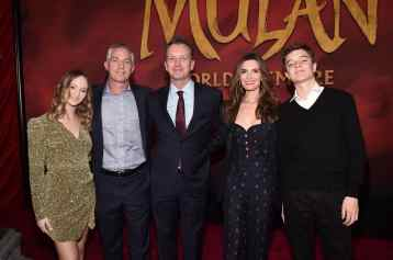 HOLLYWOOD, CALIFORNIA - MARCH 09: President of Walt Disney Studios Motion Picture Production Sean Bailey (C) and guests attend the World Premiere of Disney's 'MULAN' at the Dolby Theatre on March 09, 2020 in Hollywood, California. (Photo by Alberto E. Rodriguez/Getty Images for Disney)